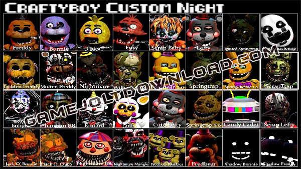 Fnaf Craftyboy Custom Night