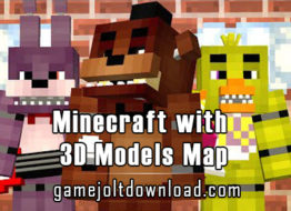 Minecraft with 3D Models Map